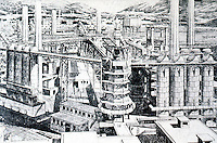 Tony Garnier:  Furnaces, Cite Industrielle, 1917.