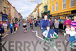Husband & wife duo Tommy & Aine O'Connell taking part in the wheelbarrow races on Main Street, Cahersiveen on Friday as part of Culture Night.