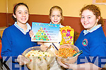 HEALTHY: Enjoying the Health Eating Week at Knockngree school on Friday were l-r: Laura O'Dea, Sarah Dineen, Abigail O'Mahony.