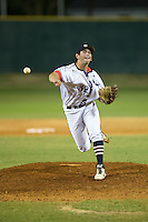 High Point-Thomasville HiToms relief pitcher Jacob Hall (32) in action against the Asheboro Copperheads at Finch Field on June 12, 2015 in Thomasville, North Carolina.  The HiToms defeated the Copperheads 12-3. (Brian Westerholt/Four Seam Images)