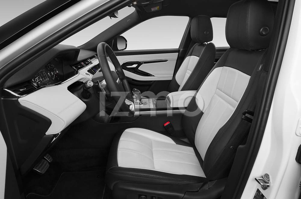 Front seat view of 2019 Land Rover Range-Rover-Evoque Dynamic 5 Door SUV Front Seat  car photos
