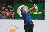 Patrick Reed (USA) on the 3rd tee during the Second Round - Foursomes of the Presidents Cup 2019, Royal Melbourne Golf Club, Melbourne, Victoria, Australia. 13/12/2019.<br /> Picture Thos Caffrey / Golffile.ie<br /> <br /> All photo usage must carry mandatory copyright credit (© Golffile | Thos Caffrey)