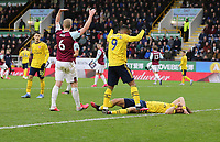2nd February 2020; Turf Moor, Burnley, Lancashire, England; English Premier League Football, Burnley versus Arsenal; David Luiz of Arsenal is down in the box and requires attention
