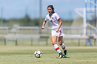 Bradenton, FL - Sunday, June 12, 2018: Sonia Walk prior to a U-17 Women's Championship 3rd place match between Canada and Haiti at IMG Academy. Canada defeated Haiti 2-1.