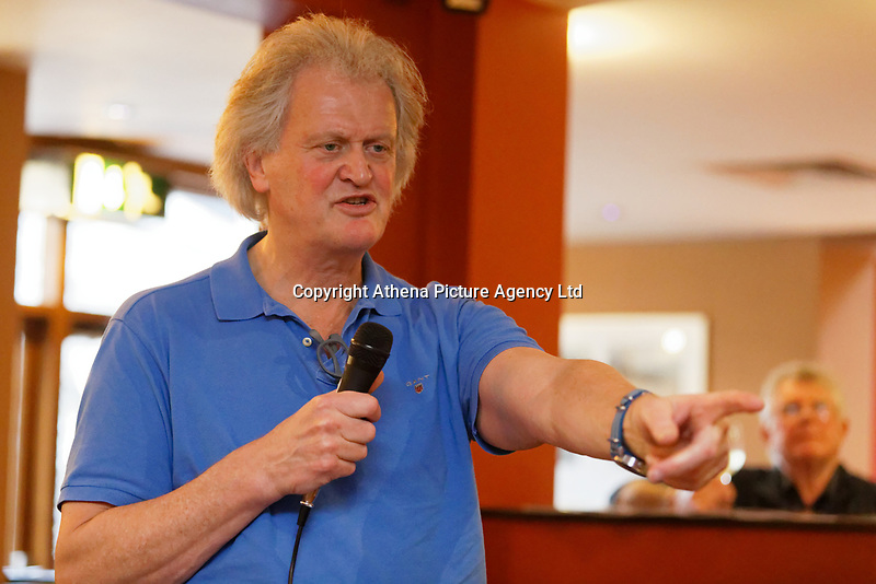 Tim Martin, the owner of JD Wetherspoon chain of pubs, speaks about Brexit at the David Protheroe public house in Neath, Wales, UK. Tuesday 15 January 2019