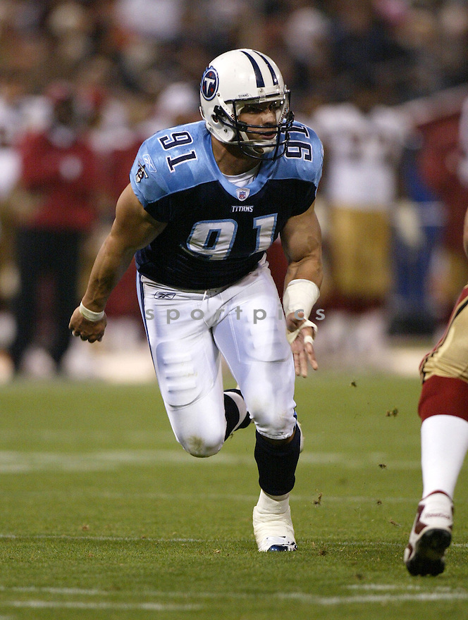 Travis LaBoy, of the Tennessee Titans, during game action against San Francisco 49ers on August 26, 2005...49ers win 16-13...SportPics