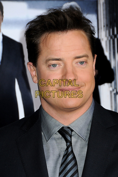 "BRENDAN FRASER .""Extraordinary Measures"" Los Angeles Premiere held at Grauman's Chinese Theatre, Hollywood, California, USA..January 19th, 2010.headshot portrait black blue  grey gray.CAP/ADM/BP.©Byron Purvis/AdMedia/Capital Pictures."