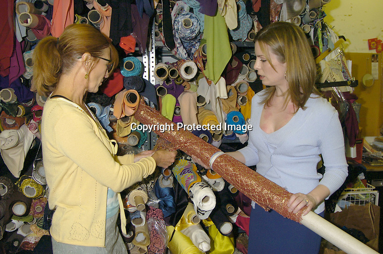 Nicole Miller and Martha Byrne..at Nicole Miller's Showroom on April 20, 2005 where Martha was picking out a dress for the Emmy Awards 2005. Her dress will be auctioned for Clothes off Our Backs which donates money to children's charities. ..Photo by Robin Platzer, Twin Images
