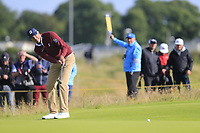 Matt Kuchar (USA) putts on the 12th green during Thursday's Round 1 of the 148th Open Championship, Royal Portrush Golf Club, Portrush, County Antrim, Northern Ireland. 18/07/2019.<br /> Picture Eoin Clarke / Golffile.ie<br /> <br /> All photo usage must carry mandatory copyright credit (© Golffile | Eoin Clarke)