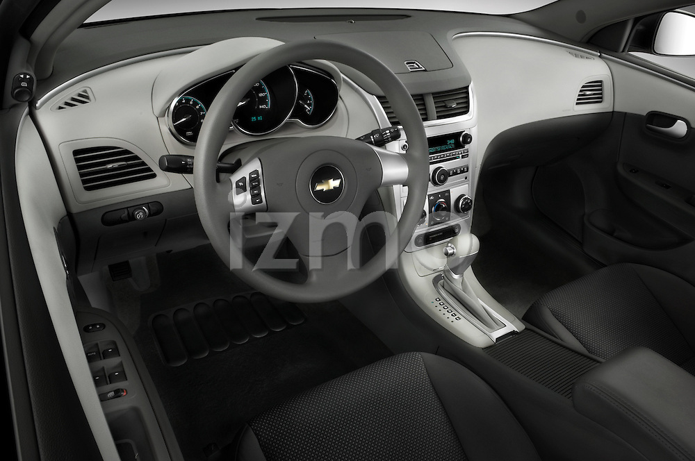 High angle dashboard view of a  2008 Chevrolet Malibu Sedan
