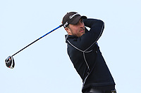 Eoin O'Brien (Clontarf) on the 1st tee during Round 3 of The West of Ireland Open Championship in Co. Sligo Golf Club, Rosses Point, Sligo on Saturday 6th April 2019.<br /> Picture:  Thos Caffrey / www.golffile.ie