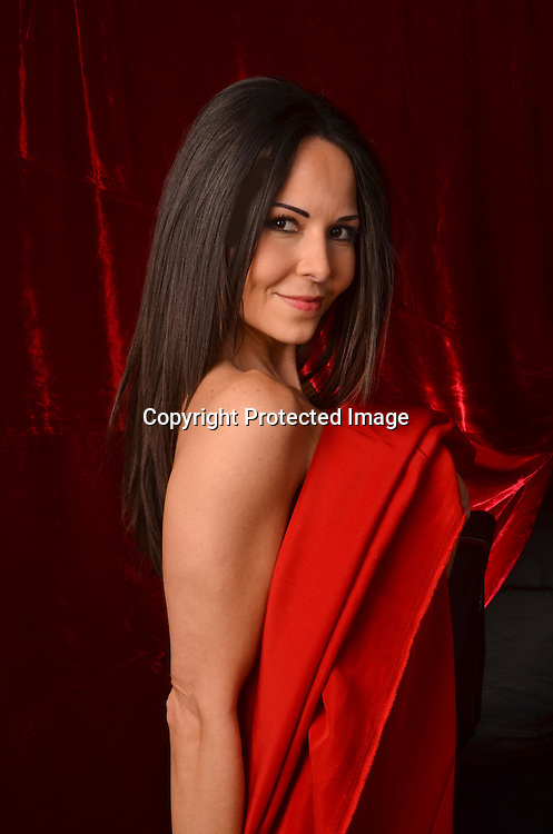 Seductive Hispanic Woman Stock Photo
