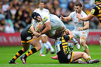 Mitch Lees of Exeter Chiefs takes on the Wasps defence. Aviva Premiership match, between Wasps and Exeter Chiefs on September 4, 2016 at the Ricoh Arena in Coventry, England. Photo by: Patrick Khachfe / JMP