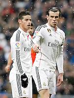 Real Madrid's James Rodriguez and Garet Bale (r) during La Liga match.January 31,2015. (ALTERPHOTOS/Acero) /NortePhoto<br /> /NortePhoto.com
