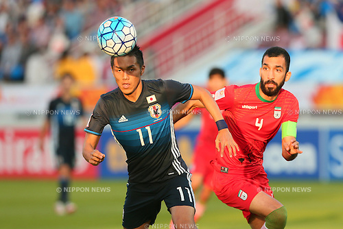 Yuya Kubo (JPN), <br /> JANUARY 22, 2016 - Football / Soccer : <br /> AFC U23 Championship Qatar 2016 <br /> Quarter-final match between <br /> Japan - Iran <br /> at Abdullah Bin Khalifa Stadium in Doha, Qatar. <br /> (Photo by Yohei Osada/AFLO SPORT)