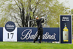 JEJU, SOUTH KOREA - APRIL 22:  Anthony Kim of USA tees off on the 17th hole during the Round One of the Ballantine's Championship at Pinx Golf Club on April 22, 2010 in Jeju island, South Korea. Photo by Victor Fraile / The Power of Sport Images