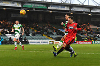 Kristian Dennis of Grimsby Town scores the third goal during Yeovil Town vs Grimsby Town, Sky Bet EFL League 2 Football at Huish Park on 9th February 2019