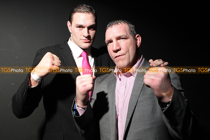 Tyson Fury and Martin Rogan promote there upcoming fight ,Boxing contest at the Magna Centre, Rotherham, promoted by Hennessy Sports - 18/02/12 - MANDATORY CREDIT: Chris Royle/TGSPHOTO - Self billing applies where appropriate - 0845 094 6026 - contact@tgsphoto.co.uk - NO UNPAID USE...