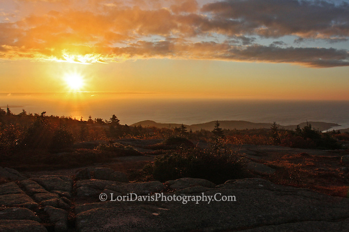 Autumn Sunrise from Summit of Cadillac Mt.  #A36