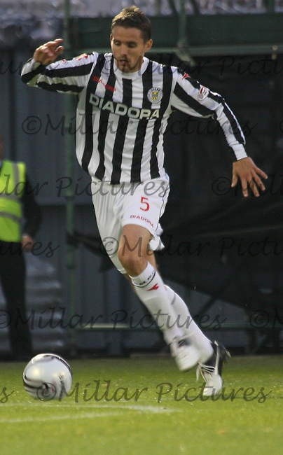Lee Mair in the St Mirren v Ayr United Scottish Communities League Cup match played at St Mirren Park, Paisley on 29.8.12.