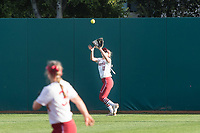 STANFORD, CA -- March 27, 2019. The Stanford Cardinal women's softball team defeats the St. Mary's Gaels 8-0 in the second game of a doubleheader at the Smith Family Stadium.