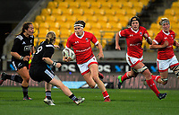 Karen Paquin in action during the 2017 International Women's Rugby Series rugby match between the NZ Black Ferns and Canada at Westpac Stadium in Wellington, New Zealand on Friday, 9 June 2017. Photo: Dave Lintott / lintottphoto.co.nz