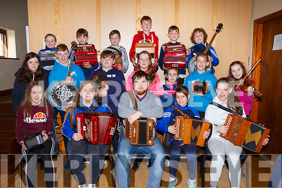 Musicians attending the 28th Annual Féile Feabhra Ceolann workshop, at the Diarmuid Ó Catháin Cultural Centre, in Lixnaw on Saturday last.