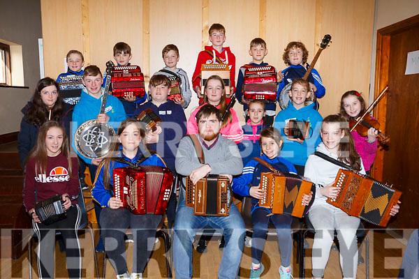 Musicians attending the 28th Annual Féile Feabhra Ceolann workshop, at the Diarmuid Ó Catháin Cultural Centre, in Lixnaw on Saturday last.