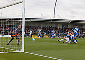29/04/2017 Vandarama National League North AFC Fylde v Worcester City<br /> <br /> Matt Blinkhorn scores AFC Fylde's opening goal
