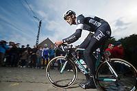 Guillaume Van Keirsbulck (BEL/OPQS) up the Paterberg<br /> <br /> <br /> Dwars Door Vlaanderen 2014