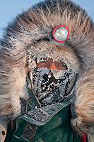 Sonny Lindner portrait at Kaltag on a cold 20 degrees below zero morning during Iditarod 2009