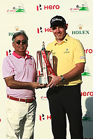 Stephen Gallacher (SCO) winner of the Hero Indian Open 2019, DLF Golf, New Delhi, New Delhi, India. 31/03/2019.<br /> Picture K.Jairaj / Golffile.ie<br /> <br /> All photo usage must carry mandatory copyright credit (© Golffile | K.Jairaj)