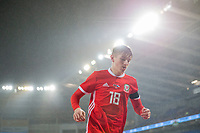 David Brooks of Wales during the International Friendly match between Wales and Panama at the Cardiff City Stadium, Cardiff, Wales on 14 November 2017. Photo by Mark Hawkins.