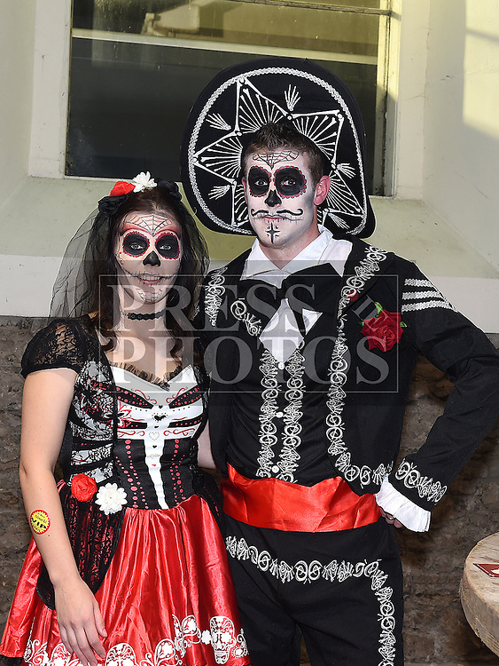 Ronan and Bernie Carroll at the Halloween Ball in the old church Ardee in aid of St. Mary's GAA club. Photo:Colin Bell/pressphotos.ie
