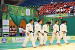 (L to R) Yuki Hashimoto, Nae Udaka, Kana Abe, Haruka Tachimoto, Mai Tateyama (JPN), .April 21, 2013 - Judo : .Asian Judo Championships 2013, Women's Team Competition .at Bangkok Youth Centre, Bangkok, Thailand. .(Photo by Daiju Kitamura/AFLO SPORT) [1045]