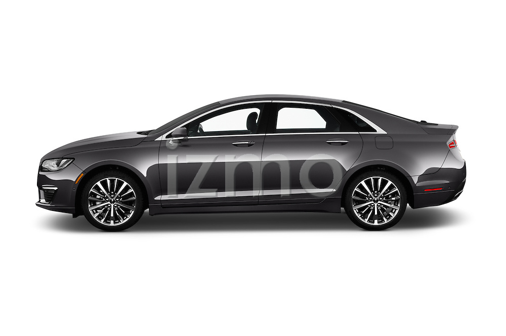 Car Driver side profile view of a 2018 Lincoln MKZ Select 4 Door Sedan Side View