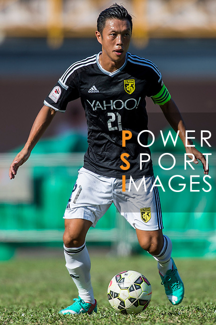Kin Man Tong of Sun Pegasus FC in action during the HKFA Premier League between Wofoo Tai Po vs Sun Pegasus at the Tai Po Sports Ground on 22 November 2014 in Hong Kong, China. Photo by Aitor Alcalde / Power Sport Images
