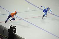 SPEEDSKATING: CALGARY: Olympic Oval, 03-12-2017, ISU World Cup, Ronald Mulder, Håvard Holmefjord Lorentzen (NOR), ©photo Martin de Jong
