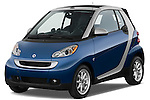 Front three quarter view of a 2009 SmartForTwo Cabriolet.