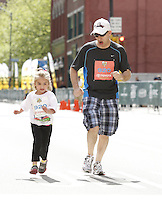 PITTSBURGH, PA - MAY 4: The Pittsburgh Kids Marathon Race takes place on May 4, 2013 in Pittsburgh, Pennsylvania.