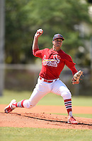 St. Louis Cardinals pitcher Jack Flaherty (33) delivers a pitch during a minor league spring training game against the Miami Marlins on March 31, 2015 at Roger Dean Complex in Jupiter, Florida.  (Mike Janes/Four Seam Images)