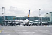 A380 der Lufthansa am Frankfurter Flughafen - Frankfurt 16.10.2019: Eichwaldschule Schaafheim am Frankfurter Flughafen