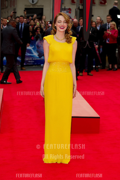 Emma Stone arriving for the World Premiere of 'The Amazing Spider-Man 2' at Odeon Leicester Square, London. 10/04/2014 Picture by: Dave Norton / Featureflash