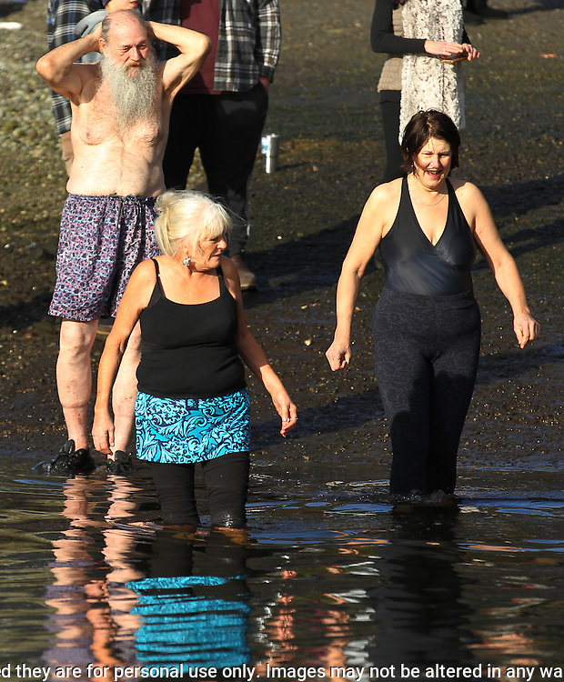 Over 400 hardy participants joined in on the 33rd annual 33rd annual Polar Bear on January 1, 2017 in Olalla, Washington by jumping into the chilly Burley lagoon waters during the Polar Bear Plunge.  ©2017. Jim Bryant. All Rights Reserved.