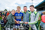 Helen, Killian (Captain) Tom and Conor Spilane, Templenoe after Kerry won the Junior all Ireland in Portlaoise on Saturday.