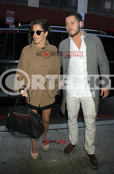 NEW YORK, NY - NOVEMBER 29: Kelly Monaco and Val Chmerkovskiy at The Wendy Williams Show in New York City. November 29, 2012. Credit: RW/MediaPunch Inc. /NortePhoto