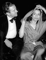 1977 FILE PHOTO<br /> New York City<br /> Halston Bianca Jagger<br /> at Studio 54<br /> Photo by Adam Scull-PHOTOlink.net