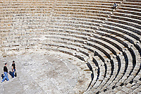 CYPRUS, near Limassol (Lemesos), Kourion: archaelogical excavation - greek-roman theatre<br />