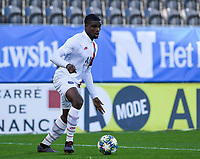 20191022 – OOSTENDE , BELGIUM : PSG's Loic Mbe Soh pictured during a soccer game between Club Brugge KV and Paris Saint-Germain ( PSG )  on the third matchday of the UEFA Youth League – Champions League season 2019-2020 , thuesday  22 th October 2019 at the Versluys Arena in Oostende  , Belgium  .  PHOTO SPORTPIX.BE   DAVID CATRY
