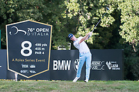 Brandon Stone (RSA) in action on the 8th hole during the first round of the 76 Open D'Italia, Olgiata Golf Club, Rome, Rome, Italy. 10/10/19.<br /> Picture Stefano Di Maria / Golffile.ie<br /> <br /> All photo usage must carry mandatory copyright credit (© Golffile | Stefano Di Maria)